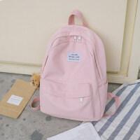 双肩包少女可爱小清新防水书包女大高中初中学生韩版校园简约背包