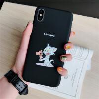卡通猫和老鼠苹果X手机壳iphonexsmax软壳7plus女款8 6s XR保护套