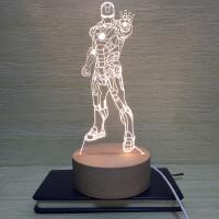 奥创纪元漫威3D钢铁侠小夜灯LED台灯USB灯床头灯卧室台灯生日礼物