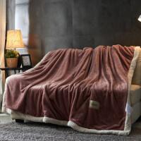 加厚双层毛毯珊瑚绒毯子空调毯毛毯法兰绒盖毯被单双人冬季