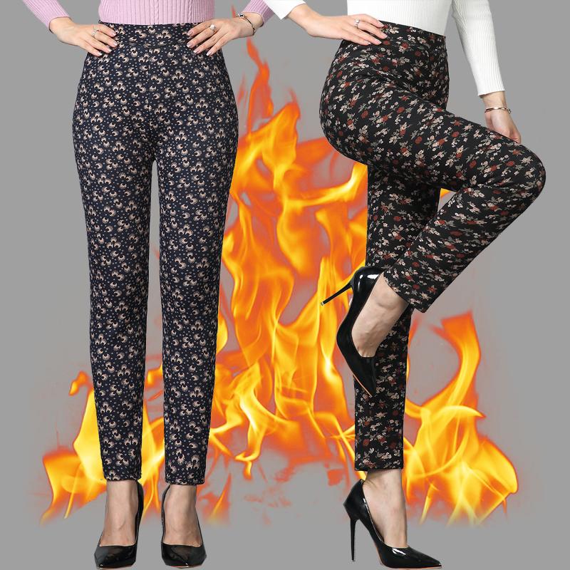加绒加厚中老年女士打底裤外穿秋冬装妈妈中年女裤棉裤花长裤小脚 发货周期:一般在付款后2-90天左右发货,具体发货时间请以与客服协商的时间为准