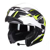 摩托车头盔男女士双镜片揭面盔全覆式全盔防雾四季蓝牙安全帽