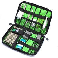 数据线收纳包 男女旅行手机充电宝移动硬盘袋耳机U盘读卡器电源整理包盒 黑色 2个装
