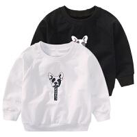 男童卫衣春秋新款儿童卡通狗头印花上衣宝宝套头外套