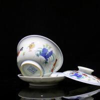 茶具套装陶瓷纯手工鸡缸杯茶具套装斗彩仿古鸡缸壶盖碗