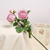 英国仿真花清新客厅装饰仿真玫瑰花束干花塑料装饰花卉