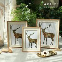 北欧现代简约风格相框摆台5寸7寸8寸12寸16寸A4环保树脂挂墙横竖