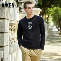 森马旗下Aiken星球大战系列IP男星战达斯维达电影潮流圆领套头卫衣服外套