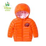 【3件2.6折到手价:145】迪士尼Disney童装 宝宝男童羽绒服加厚保暖连帽外套中长款秋冬164S841