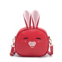 韩版儿童包包女童斜挎包时尚公主包可爱小兔子单肩双背两用出游包