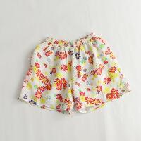 印花棉麻短裤37