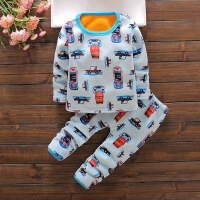 儿童内衣套装婴幼儿加绒加厚男女童家居服0冬季1-3岁宝宝保暖衣服