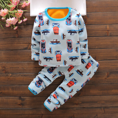 儿童内衣套装婴幼儿加绒加厚男女童家居服0冬季1-3岁宝宝保暖衣服 发货周期:一般在付款后2-90天左右发货,具体发货时间请以与客服协商的时间为准