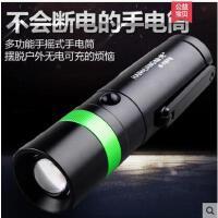 户外照明多功能手摇手电筒强光可充电迷你手灯特种兵led超亮家用远射