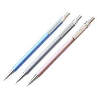得力6492自动铅笔 活动铅笔 0.5mm 笔尖自动伸缩装置 带橡皮 颜色随机1支