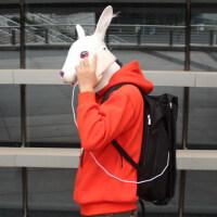 时尚潮流男电脑双肩包背包男学生帆布包书包男防水旅行运动包