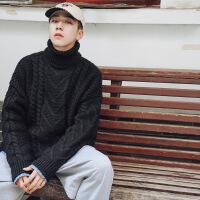 №【2019新款】小伙子穿的高领毛衣男原宿风超火ins的加厚针织衫百搭港风chic网红