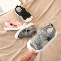 1-3岁夏季儿童婴儿鞋子软底网面透气网鞋女童宝宝布凉鞋学步鞋