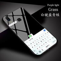 青蛙键盘vivoy93手机壳硅胶软vivov11i玻璃壳镜面卡通个性搞怪简约对话框z3i软套创意情侣