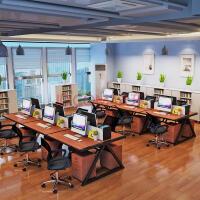 20180712151626887多人双人办公职员办公桌4人约人四人桌子家具公司简约转角面对面财务写字台工作台六人