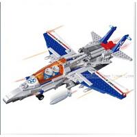 欢乐童年-邦宝 军事战争系列拼装积木 儿童益智塑料拼插积木玩具 隐形战机