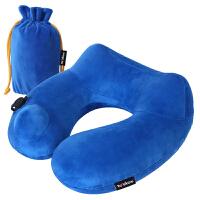 旅游旅行护颈椎午睡枕便携飞机高铁充气枕按压u型充气枕头