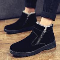 冬季雪地靴男士短靴棉靴子男鞋加绒保暖棉鞋百搭高帮男靴潮