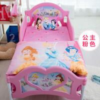 全棉活性印花儿童床上三件套公主米妮卡通儿童床单枕套被套 其它
