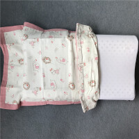 ???纯棉纱布儿童卡通乳胶枕枕套30*50。40x60cm全棉记忆枕头套