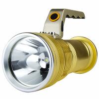 强光手电筒充电超亮远射户外探照灯家用氙气灯1000W打猎水5000 T6黑色3节电池+1直充(黄光)