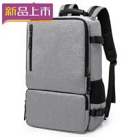 2018男士双肩包电脑大容量运动户外商务休闲旅行旅游出差手提行李背包 黑色