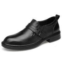 皮鞋男士秋冬季加绒男鞋黑色潮流婚礼商务休闲韩版英伦内增高潮鞋