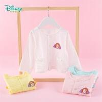 【2件3折到手价:43.5】迪士尼Disney童装 女宝宝纯棉单排扣开衫索菲亚公主上衣年春季新款针织衫