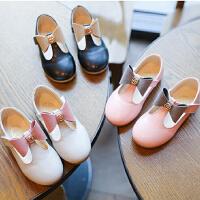 女宝宝黑色粉色韩版公主鞋 公主皮鞋影楼摄影鞋子新款韩版皮鞋