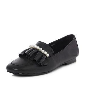BASTO/百思图2018春季专柜同款软面羊皮珍珠浅口女休闲鞋YLD03AQ8