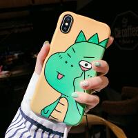 搞怪恐龙8plus苹果x手机壳XS Max/XR/iPhoneX/7p/6女款iphone6s趣味卡 黄色 XR