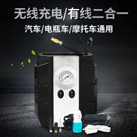 无线数显车载充气泵12v便携式多功能汽车车用轮胎打气泵点烟器