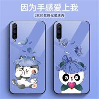 小米cc9手机壳 小米CC9保护壳 小米cc9钢化玻璃壳镜面软硅胶全包边个性卡通熊手机套