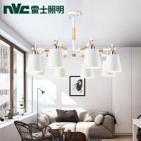 雷士 现代简约地中海风格个性创意8头别墅大厅吊灯北欧灯具
