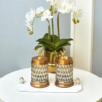 欧式水晶玻璃小鹿储物罐糖果罐样板房客厅酒柜创意花器装饰品摆件
