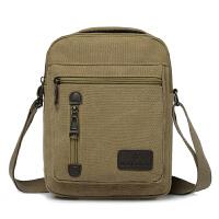 竖款帆布包男士包包休闲单肩包斜挎包手提平板电脑包小挎包小方包