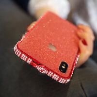 新款苹果X手机壳水钻7plus镶钻金属边框6s奢华XS MAX水钻iphone8p高档潮女6splu