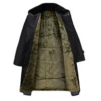 新款冬季男式长款勤务毛大衣 保安反光条防水棉袄 内胆可拆卸 均码(适合160-190身高)