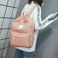 新款旅行包女双肩背包大容量旅游包纯色简约电脑包防水尼龙包