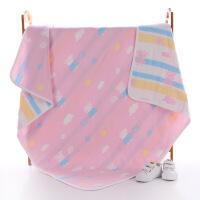 婴童毛巾被纯棉6层纱布童被新生儿洗澡巾儿童盖毯加厚纯棉大浴巾