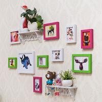 儿童房相框墙 照片墙创意组合家居无痕钉悬挂相片墙照片墙相框