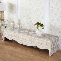 欧式茶几电视柜桌布布艺茶几垫桌垫长方形客厅蕾丝梳妆台家用盖布