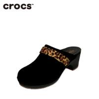 Crocs卡骆驰女鞋 舒适女士芮莉莎尔拉复古高跟鞋凉拖|203415