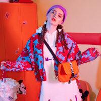 【1件5折到手价:139.5】美特斯邦威外套女2019秋季新款休闲潮流时尚米奇图案韩版女士外套