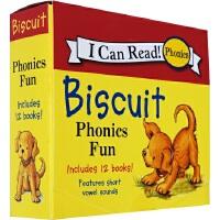 饼干狗原版英文原版书 biscuit小饼干狗系列 Biscuit Phonics Fun 自然拼读 I Can Rea